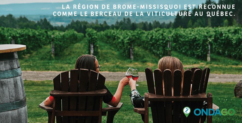 Ondago – Carte de la route des vins de Brome-Missisquoi